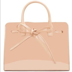 Mansur Gavriel Patent Mini Sun Bag in Rosa